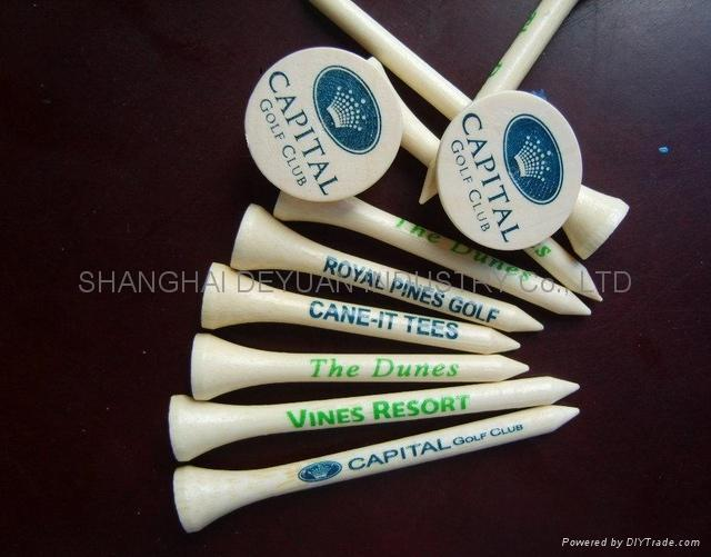 Bamboo golf tee 1