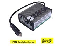 HP812  24V/36V 1.5A  car charger,solar system charger for e-bike,escooter,chair