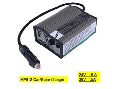 HP812  24V/36V 1.5A  in car battery charger for mobility scooter