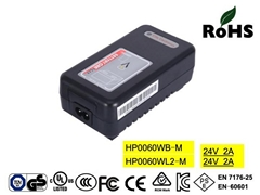 24V2A Lead acid battery chargers with UL,FCC,cUL,TUV-GS,CE-EN60601, PSE,SAA,KC (Hot Product - 1*)