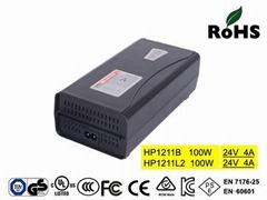 HP1211B  24V/4A Lead Acid Battery Charger with UL,cUL,FCC,TUV-GS,CE-EN60601,KC
