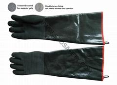 54cm double foam jersey lined neoprene coated gloves