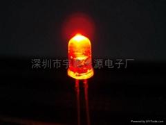 光电鼠标专用5MM红光LED发光二极管