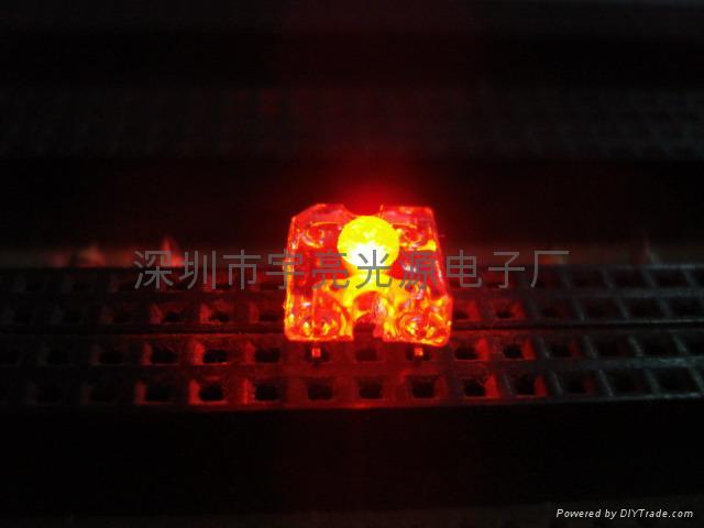 3MM紅色食人魚LED發光二極管 1