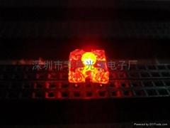 3MM红色食人鱼LED发光二极