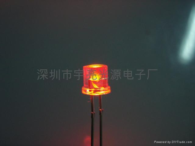 5MM平頭紅色美人魚LED發光二極管 1