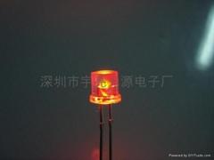 5MM平頭紅色美人魚LED發光二極管