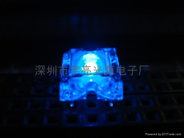3MM藍色食人魚LED發光二極管 1