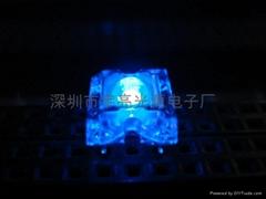 3MM藍色食人魚LED發光二極