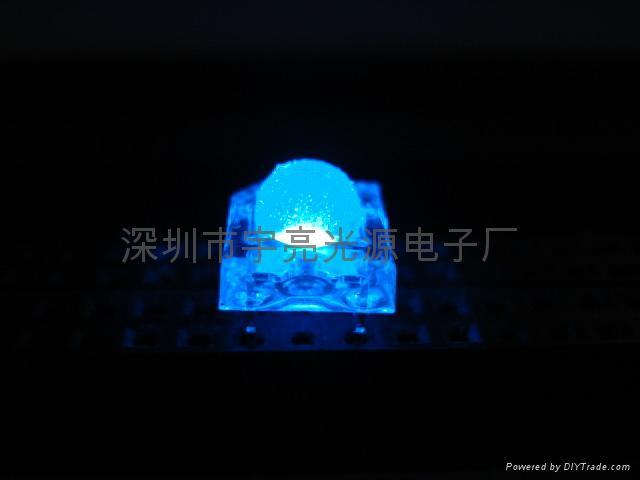 3MM藍色食人魚LED發光二極管 2