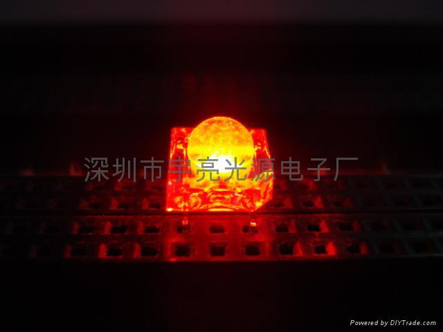 3MM紅色食人魚LED發光二極管 2