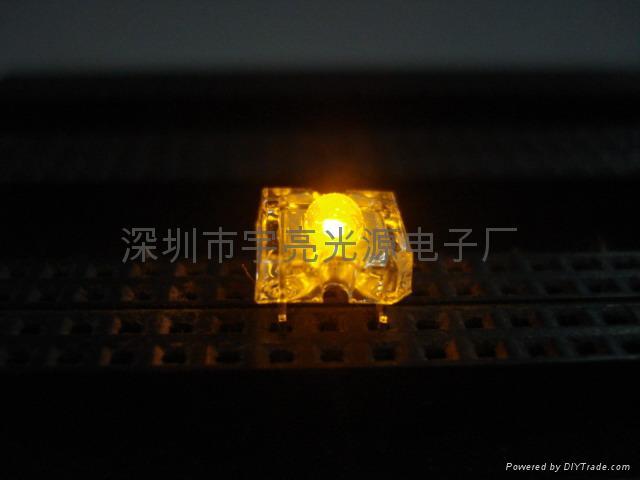 3MM黃色食人魚LED發光二極管 1