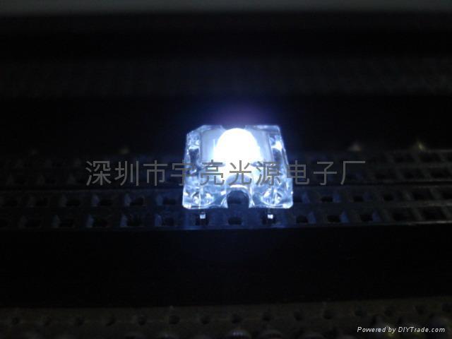 3MM白色食人魚LED發光二極管 1