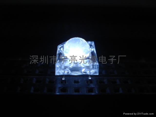 3MM白色食人魚LED發光二極管 2