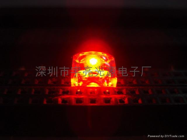 麵包型食人魚紅色LED發光二極管 1