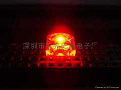 面包型食人鱼红色LED发光二极管