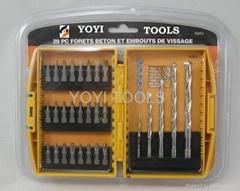 29pcs masonry drills & bits