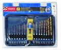 17pcs hex shank drill set