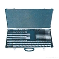 19pcs hammer drills and chisel set