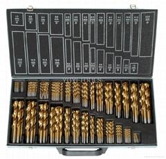 230pcs hss drill bits in metal box