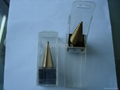 hss step drill bits with plastic tube packed