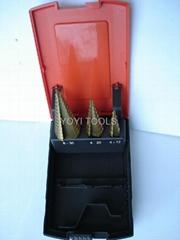 3pcs step drill bits