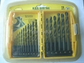 19pcs hss drills with double blister card
