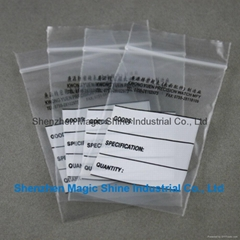 clear LDPE zipper bag