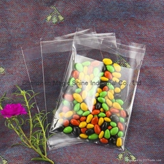 Clear cellophane bag with self seal