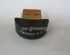 Smallest mini Bluetooth 3.0 4.0 USB wireless Dongle USB 2.0 adapter