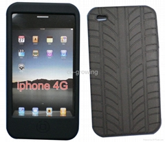 silicone(silicon) skin case for iphone 4