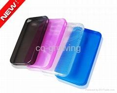 TPU case Gel plastic case for iphone 4(4G) 4S 5C 5S