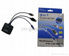 3 in 1 Converter for PS2 to PC/GC/xBox