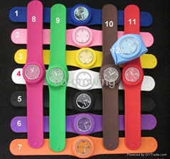 Silicone slap snap Candy jelly watch silicon sport toy watches LED watch