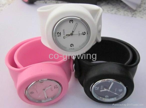 Silicone slap snap Candy jelly watch silicon sport toy watches LED watch 2