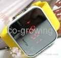 Silicone slap snap Candy jelly watch silicon sport toy watches LED watch 4