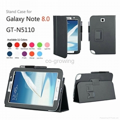 High quality PU leather cases for samsung galaxy note 8.0 N5100 N5110