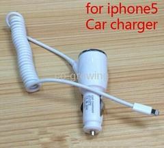 12V Car Charger for iPhone 5C 5S 5 5G/iPad mini/iPad 4