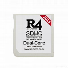 2015 white R4i SDHC R4iSDHC DUAL-CORE flash cards cartridge for 3DS XL 2DS DSI
