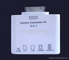 ipad/ ipad2 /ipad 3/ipad 4 5in1 5 in 1 camera connection kit