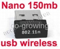 Nano 150mbps USB Wireless Dongle adapter mini wifi network card  1