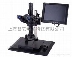 Video binocular microscope