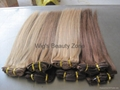 Silky straight human hair weaving 5
