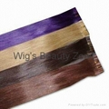 PU human hair wefts 2