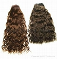 Remy wavy Hair wefts