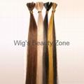 Keratin human hair extensions