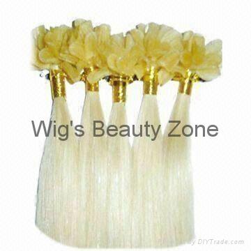 Keratin human hair extensions 3