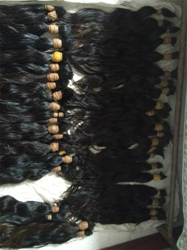"2015 Direct Sell Virgin Remy Hair Bulk 22"" 6"