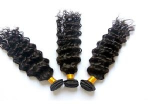 """Brazilian Virgin Remy Hair Curly Wefts 18"""" 2"""