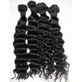 """Brazilian Virgin Remy Hair Curly Wefts 18"""" 3"""